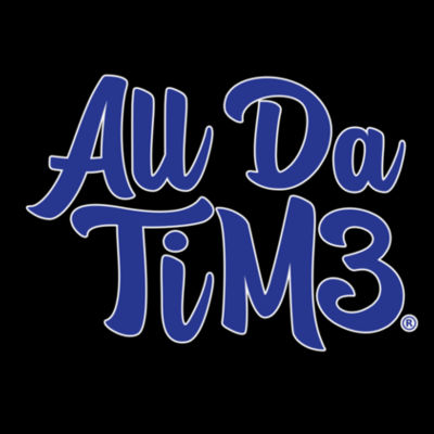ALL DA TIME SCRIPT - PREMIUM LADIES S/S TEE - BLACK Design