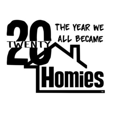 2020 WE'RE ALL HOMIES - PREMIUM LADIES S/S TEE - WHITE Design