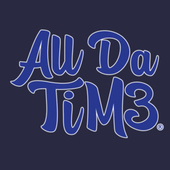ALL DA TIME SCRIPT - PREMIUM MEN'S S/S TEE - NAVY BLUE Design