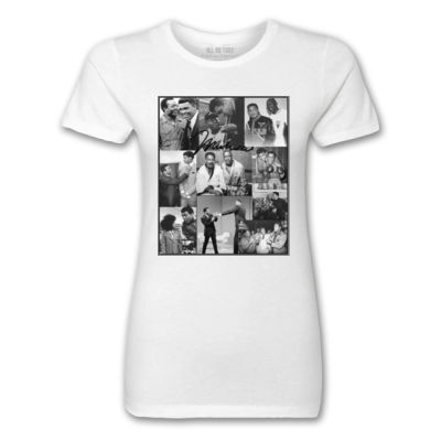 ALI COLLAGE - PREMIUM LADIES S/S TEE - WHITE Thumbnail