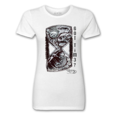 GOT TIME? - PREMIUM LADIES S/S TEE - WHITE Thumbnail