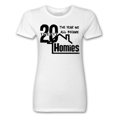 2020 WE'RE ALL HOMIES - PREMIUM LADIES S/S TEE - WHITE Thumbnail